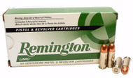 This is a new box of Remington UMC ammunition in the .38 Super caliber. They have 130 grain FMJ (full metal jacket) projectiles loaded with +P (extra powder) and come 50 rounds per box.