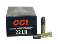 CCI .22 long rifle 40 Grain Lead Round Nose, has 50 rounds per box, manufactured by CCI.