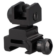 This is an AR-15 rear sight, made from aluminum by Target Sports.