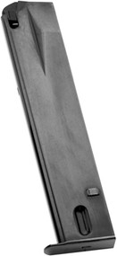 This is an extended 20 round magazine for the Ruger 9mm, made by Mec-Gar.