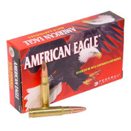 Federal American Eagle .338 Federal , 185 grain soft-point, 25 rounds per box, manufactured by Federal Cartridge Company.