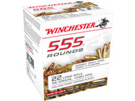 Winchester .22 long rifle 36 Grain Copper-Plated Hollow Point, has 555 rounds per box, manufactured by Winchester.