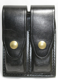 Gould & Goodrich Leather Magazine Pouch holds (2) double stack magazines. This pouch has brass snaps.