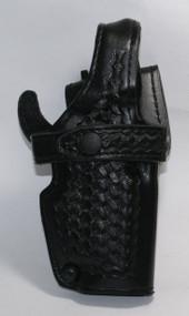This holster fits: Smith & Wesson - 4006TSW, 4046TSW, 5906TSW, 5946TSW W/ Rails