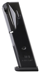 This is a 10 round Beretta magazine for the model 92 9mm, made by Mec-Gar.