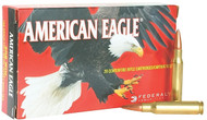 This is a box of Federal American Eagle ammunition for the .30-06 springfield caliber with a 150 grain projectile, 20 rounds/box, manufactured by Federal.