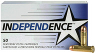 Federal Independence .38 special 130 Grain FMJ, has 50 rounds per box, manufactured by Federal.