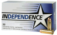Federal Independence .45 acp 230 Grain FMJ, has 50 rounds per box, manufactured by Federal.