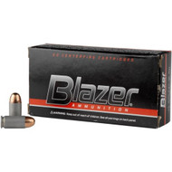 CCI Blazer .45 acp 230 Grain FMJ, has 50 rounds per box, manufactured by CCI.