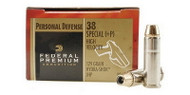 Federal Premium .38 special 129 Grain Hydra-Shok JHP, has 20 rounds per box, manufactured by Federal.