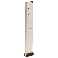 This is a Ruger magazine for the P90/P97 .45 acp models, 15 round capacity, nickel finish, made by ProMag.