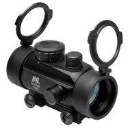 "This is a NcStar Red Dot Sight, 1x30mm. This optic is equipped with 3/8"" dove tail base for easy mounting."