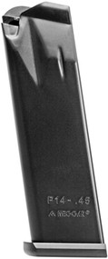 This is a 14 round magazine for the Para-Ordnance P14, made by Mec-Gar.