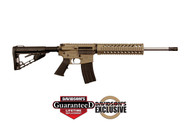 This is a Diamondback AR-15 rifle in FDE called the DB15 chambered in 5.56 nato.