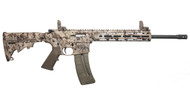 This is a Smith & Wesson M&P 15-22 Sport rifle with Kryptek Highlander furniture, chambered in .22 lr.