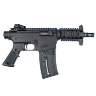 This is a Mossberg International Tactical 715P pistol chambered in .22 lr. Based on the popular AR15 platform, this .22lr rifle is great for training on a budget. Comes with (1)- 25 round magazine.
