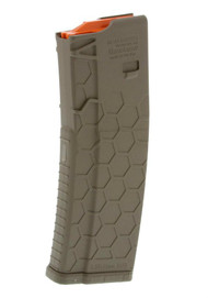 This is a 30 round flat dark earth AR-15 magazine .223 / 5.56 made by HEXMAG.