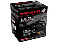 Winchester .22 long rifle 40 Grain Black Copper-Plated round nose, has 1000 rounds per box, manufactured by Winchester.
