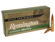 Remington Premier Match 300 Blackout 125 Grain Open Tip Match, has 20 rounds per box, manufactured by Remington.