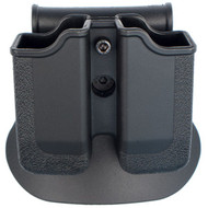 This is a factory Sig Sauer SigTac polymer double magazine pouch, the color is black and it has a paddle configuration.