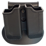 This is a factory Sig Sauer SigTac polymer double magazine pouch, the color is black and it has a paddle configuration and fits most Glock Mags.