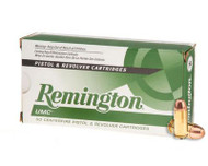 Remington UMC .45 acp 230 Grain Brass MC, has 50 rounds per box, manufactured by Remington.