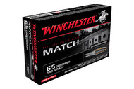 Winchester 6.5 CREEDMOOR 140 Grain Match BTHP (Boat Tail Hollow Point), has 20 rounds per box, manufactured by Winchester.