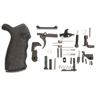 This is an AR-15 lower parts kit (LPK), 29 piece, made by an Original Equipment Manufacturer with a Blackhawk Ergonomic AR Grip.