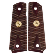 1911 Colt Grips - Government / Full-Size - Double Diamond - Dark Rosewood