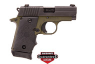 This is a Sig Sauer P238 .380 acp. This is a special edition by TALO that comes with SIGLITE (night sights) and a army green cerakote frame. Comes with (1) - 7 rd magazines.