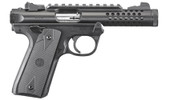 This is a Ruger Mark IV 22/45 Lite .22 lr, with a black anodized finish.