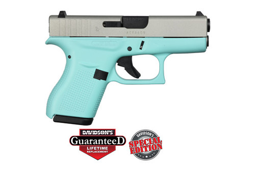 This is a Glock 42 .380 acp. Great concealed carry gun weighing in at just over 12 ounces. Comes with (2)-6 round magazines.