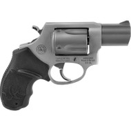 This is a Taurus 85, .38 special (+p rated) revolver, it has an ultra-lite frame with a stainless steel finish.