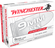 Winchester 9mm 115 Grain FMJ 200 Rounds/Box