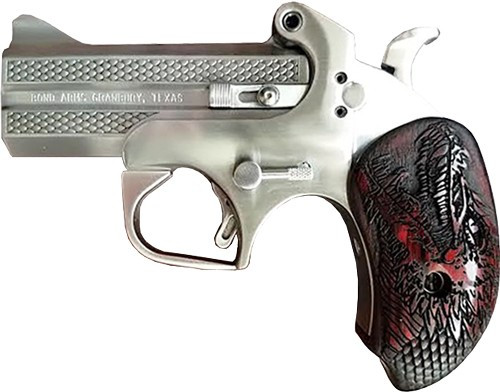 """This is a Bond Arms derringer chambered is .45 long colt or 410 gauge. TALO Limited Edition, only 500 will be made. """"Dragon Slayer"""""""