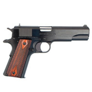 This is a Colt 1911 chambered in .38 super, full size 1991 government model. This model has a blued finish and comes with (2)-9 round magazines.