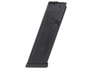 This is a Glock magazine for model 17, 17 round capacity, made in Korea by KCI. These are Gen 4 magazines with the dual magazine cut on both sides of the magazine.