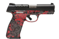 This is a Ruger® 9E® 9mm  in red digital camo. This is economic version of the standard SR-9, it only ships with one 17 round magazine.