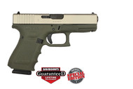 Glock 19 9mm - Gen 4 - Forest Green / Silver