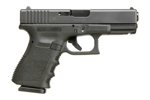 This is a Glock 19 9mm, Gen 3, with a black finish.
