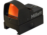 Millett M-Pulse Red Dot Sight 1x 5 MOA Dot with Riser Block Matte