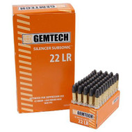 Gemtech Silencer subsonic .22LR 42 Grain 1020FPS 50 Rounds/Box Ammo