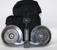 This is a AR-15 drum .223 / 5.56, 100 round capacity, with a clear back.  Made in USA. Comes with a nylon carrying case.