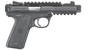 This is a Ruger Mark IV 22/45 Tactical .22 lr, with a black Oxide finish.