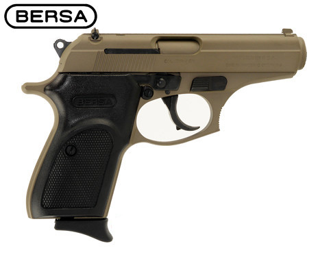 This is a Bersa Thunder .380 acp, with a cerakote Flat Dark Earth finish. Comes with (1) 8 round magazine.