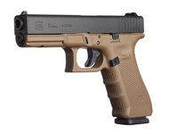This is a Glock 17 9mm, Gen 4, with a Dark Earth (not flat dark earth) frame. Comes with (3) 10 Round Magazines. This Glock is pre-owned in excellent+ condition.