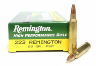 Remington .223 rem 55 Grain Pointed Soft Point (PSP) 20 Rounds/ Box Ammo 047700050904