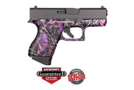 This is a Glock 43 9mm, with a Muddy Girl finish.