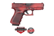This is a Glock 19 9mm, Gen 4, with a cerakote Battleworn Red finish. Comes with (3) - 15 round magazines. Special Edition Glock from Davidson's.