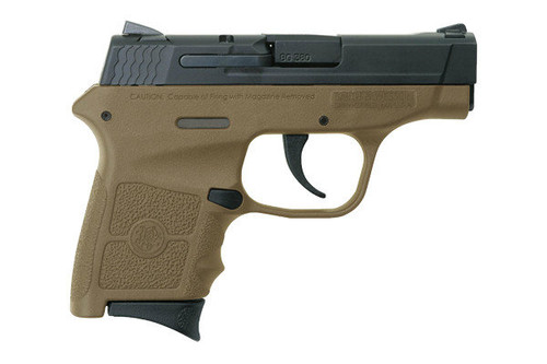 This is a Smith & Wesson Bodyguard .380 acp. Great concealed carry gun weighing in at a mere 12 ounces. Comes with (2)-6 round magazines.   This model has a FDE (flat dark earth) frame.